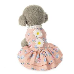 New Pet Puppy Dog Lace Princess Tutu Dress Vest Skirt Clothes Apparel Costume