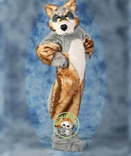 NEW Fur Color Wolf Mascot Costume Luxury Plush Husky Dog Party Fox Dress Suit UK