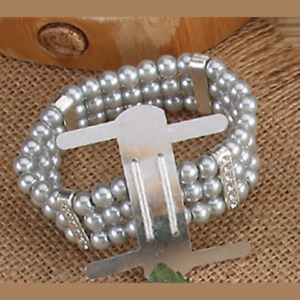 1 FAUX PEARLS Wrist Band Corsage Flower Holder Weddings, Prom - Choose color