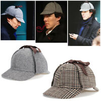 Unisex Men Women Sherlock Holmes Cosplay Deerstalker Hats Cosplay Hunting  *