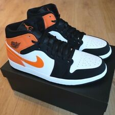 Nike Air Jordan 1 Mid Shattered Backboard Black White Orange UK10.5 BNIB