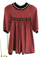 Bonnie Jean Girls Size 5 Red & Black Plaid Holiday Dress