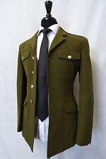 Men's Vintage Royal Engineers Army Uniform Green Jacket Blazer 34R AA63