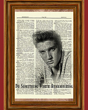 Elvis Presley Dictionary Art Print Book Page Picture Poster Vintage Quote
