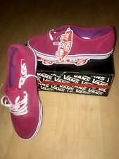 a77da79f2385dc LADIES FUCHSIA PINK WHITE SUEDE AUTHENTIC LO PRO VANS EXCLUSIVE UK SIZE 4