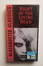 NEW Night of the Living Dead VHS Blockbuster Video 1994 Horror Romero Zombie HTF
