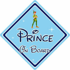 Disney Prince On Board Car Sign - Baby On Board - Peter Pan