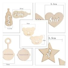 12 Baby Themed Mdf Type Wood Wooden Shapes Craft Embellishments Decoration
