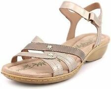 """0.5-1.5"""" Low Heel 100% Leather Sandals for Women"""
