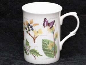 ROSE of ENGLAND BUTTERFLY GARDEN Fine Bone China Cylinder Medium Mug #B2