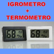 Schermo Igrometro Termometro Umidita Digitale Temperatura LCD Nero qualita wd