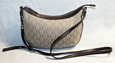 NEAR NEW/RRP$295 OROTON Leather Trim Signature O Mini Hobo/Crossbody Bag/Handbag