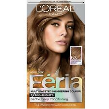 L'Oreal Paris Feria Multi-Faceted Shimmering Color, Light Golden Brown [63] 1ea