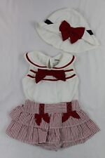 GYMBOREE baby girls 3-6 months 3 piece sailer outfit ADORABLE