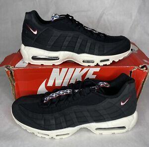 Nike Air Max 95 TT Men's Size 15 Pull Tab Pack Black Red Sail White (AJ1844-002)