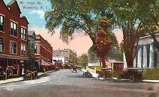 Westerly,Rhode Island,High Street,Washington County,c.1909