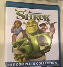 Dream Works Shrek 3D Blue Ray 4 Discs The Complete Collection