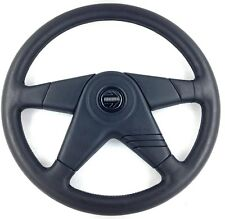 Genuine Momo Elite 380mm black leather steering wheel. New Old Stock. Rare!  18A