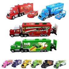 1:55 Disney Pixar Cars No.95 86 51 Mack Hauler Truck&Racers Flash McQUEEN KidToy
