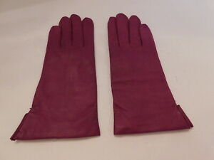FOWNES LADIES ROSE SOFT LEATHER WINTER GLOVES ACRYLIC KNIT LINING SIZE 7.5