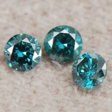 Natural Blue Color 0.15ct Round Shape SI2-I2 Clarity Certified Loose Diamond Set