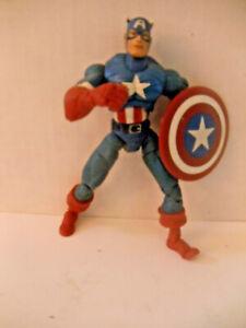 """Captain America Marvel 6"""" action fig loose Toy Biz Legends Steve Rogers 2002"""