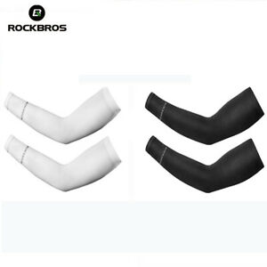 ROCKBROS Outdoor Sport Cooling Ice Silk Arm Sleeves Cover Cycling UV Protection