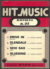 HIT MUSIC - RACCOLTA N°25 - SPARTITO - GUIDA PIANO-ORGANO