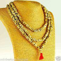 Mala Totenkopf Halskette Bein Natur Knochen Handarbeit Nepal 18c