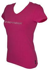 T-shirt maglietta V donna EMPORIO ARMANI 163321 6P263 taglia L c. 04873 RASPBER