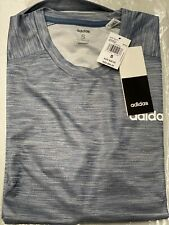 Adidas Women's D2M Solid Tee / T-Shirt / Tecink/White Climalite Material SIZE S