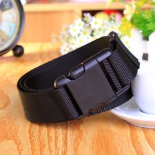 New Adjustable Belt Tactical Military Combat Web Belt Plastic Buckle Black 110CM