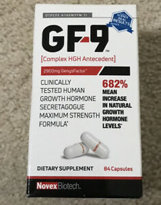 Novex Biotech GF-9 Growth Factor Dietary Supplement 84 Capsules, Exp 2023.