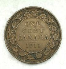 1911 Canada LARGE ONE CENT 1st Year of King George V Godless Penny