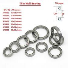 Super Thin Wall Sealed Bearings Steel Deep Groove Ball Bearing 6700ZZ-6706ZZ