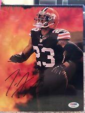 Joe Haden Signed Cleveland Browns 8x10 Photo PSA