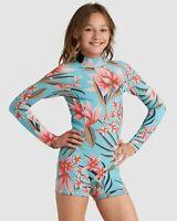 Billabong BNWT Girls Wetsuit Teen Size 12 Spring Fever 2Mm Long Sleeve Tween