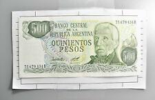 CrazieM World Bank Note - 1976-83 Argentina 500 Pesos - Collection Lot m449