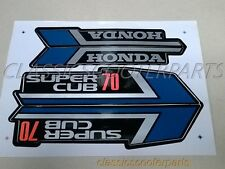 Honda C70 Super Cub 70 BLUE paper stickers logos emblems H2070