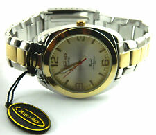 MARCO MAX  GENTELMAN  WATCH /BIG  FACE-/  2TONE  WATER RESISTAN /JAPAN MOVEMENT
