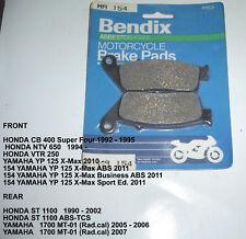 HONDA ST1100 NTV650 YAMAHA  BENDIX DISC BRAKE PADS MA154 NEW