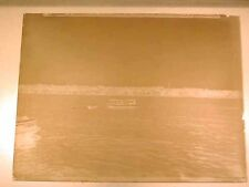 Antique GLASS PLATE - PHOTOGRAPHIC NEGATIVE of a Boat on River, Buildings, Shore