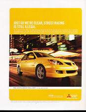 2004 Mitsubishi Lancer Ralliart Yellow Classic Vintage Advertisement Ad A12-B