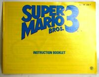 Super Mario Bros 3 Nintendo NES Video Game Manual Only * No Game *