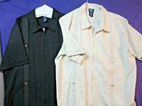 John Blair Mens XLG Zip Up Short Sleeve Shirt Size Vintage