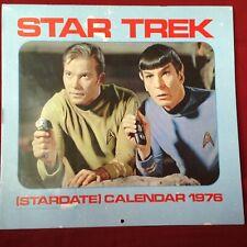 Star Trek 1976 Calendar With Mailer, Ballantine Books