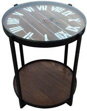 Design | Beistelltisch | Couchtisch | Nachttisch | Sofatisch | Uhr | Braun | NEU
