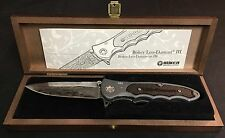 BOKER Leopard Damascus III Liner Lock Pocket Knife WITH PAPERS IN DISPLAY CASE