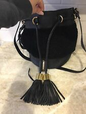 See By Chloe Vicki Bucket Bag With Shearling
