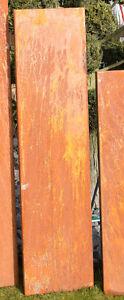 Cortenstahlstelen Metall Sichtschutz Stelen CORTENSTAHL 1400-350-OR